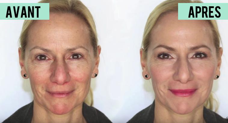 maquillage avant apres