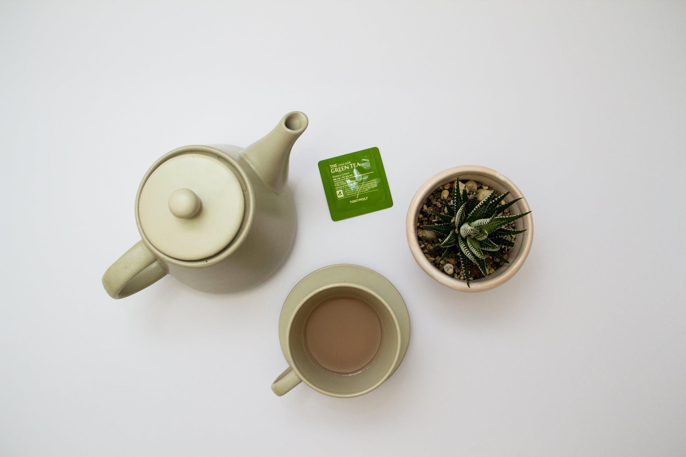 thé vert contre les premières rides