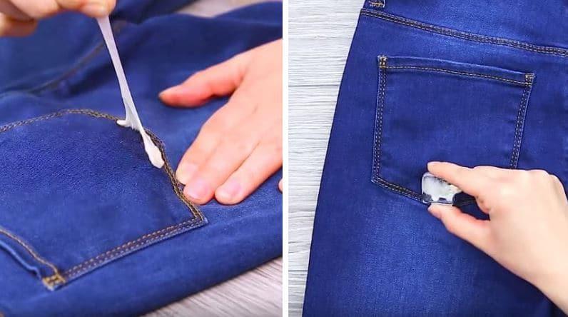 chewing gum collé jean astuce