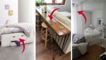 astuces petit appartement rangement place
