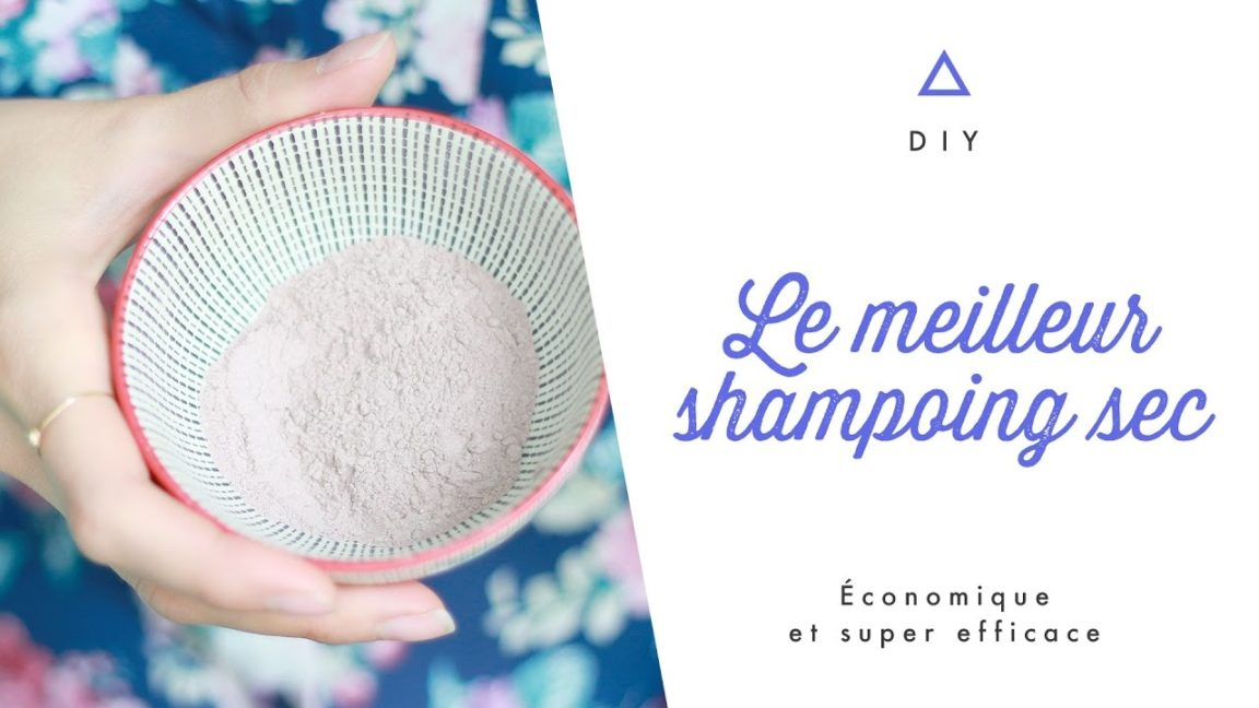 shampoing sec facile frange se coiffer