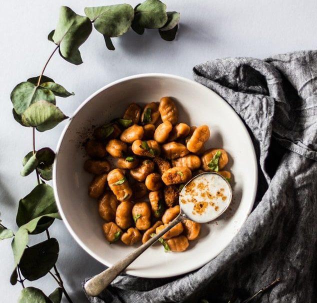 gnocchis de potimarron pates vegan repas menu idées aliment