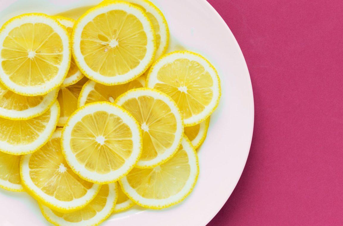 agrumes tranches de citrons citron
