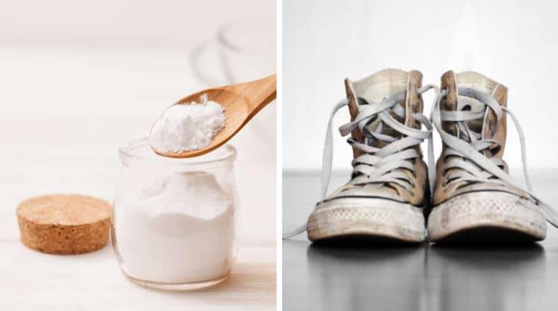 prendre soin de ses vêtements et chaussures baskets blanches