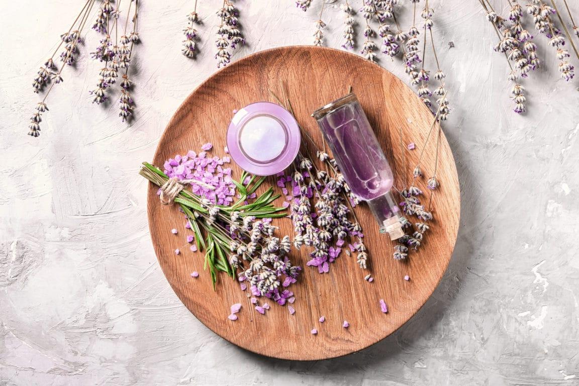 lavande plante séchée huile essentielle remède boutons