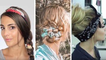 coiffures avec un foulard couv cheveux