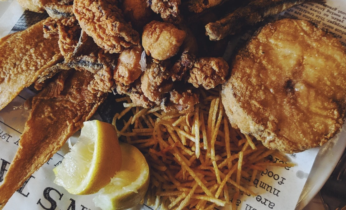 friture poisson pane aliments stocker graisses