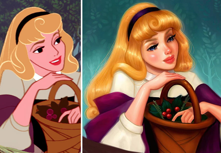 Princesses Disney revisitées plus réalistes
