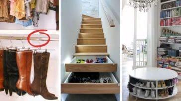 rangements chaussures idées inspiration DIY