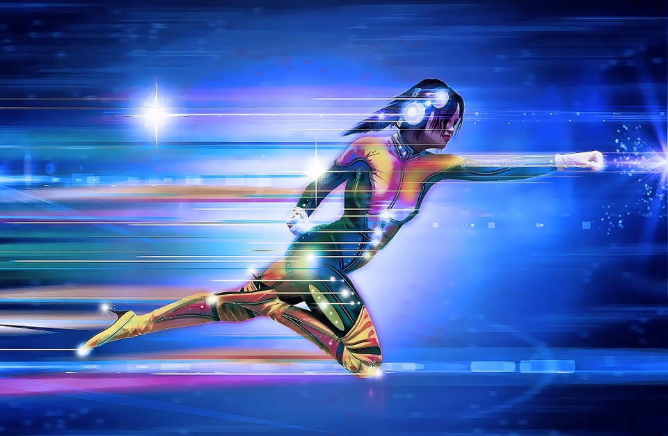 femme aux super pouvoirs