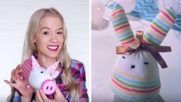 tirelire cochon jouets fille DIY