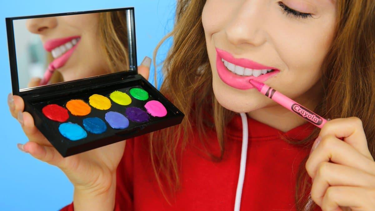 trucs astuces beauté youtube gloss crayola