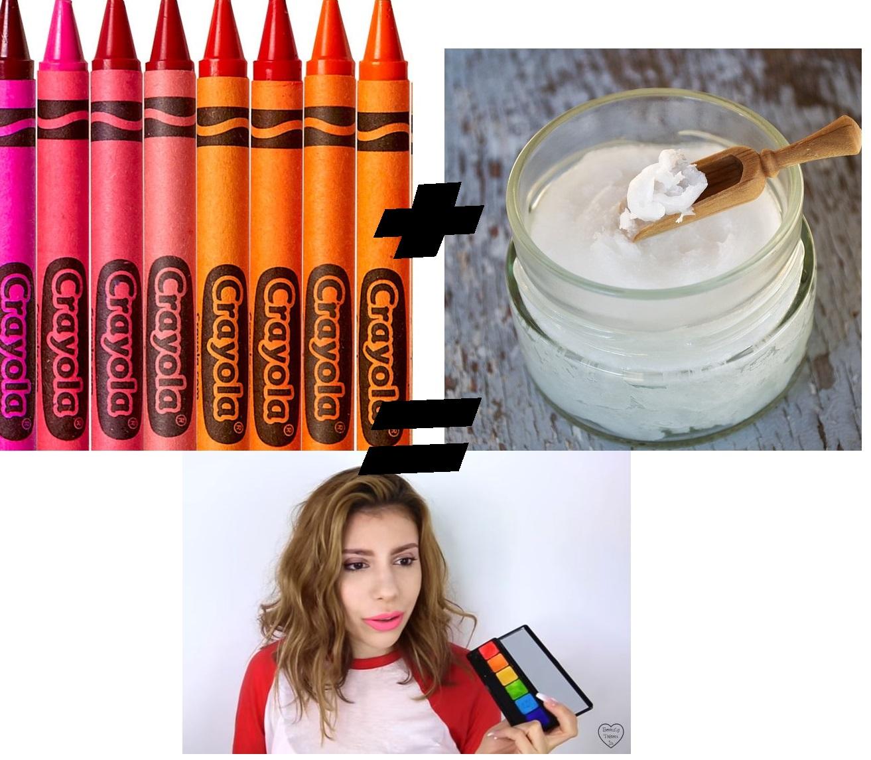 crayons gras crayola gloss DIY coco