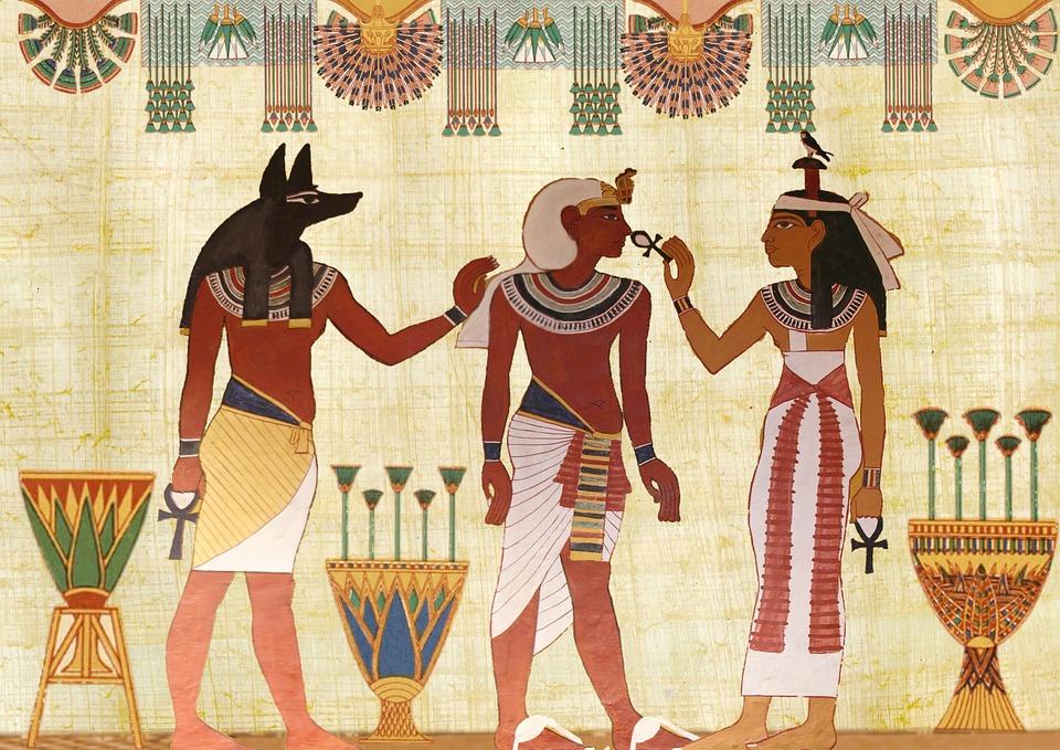 papyrus roulé pour les regles