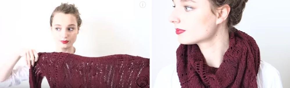 transformer un pull en écharpe vêtements double emploi