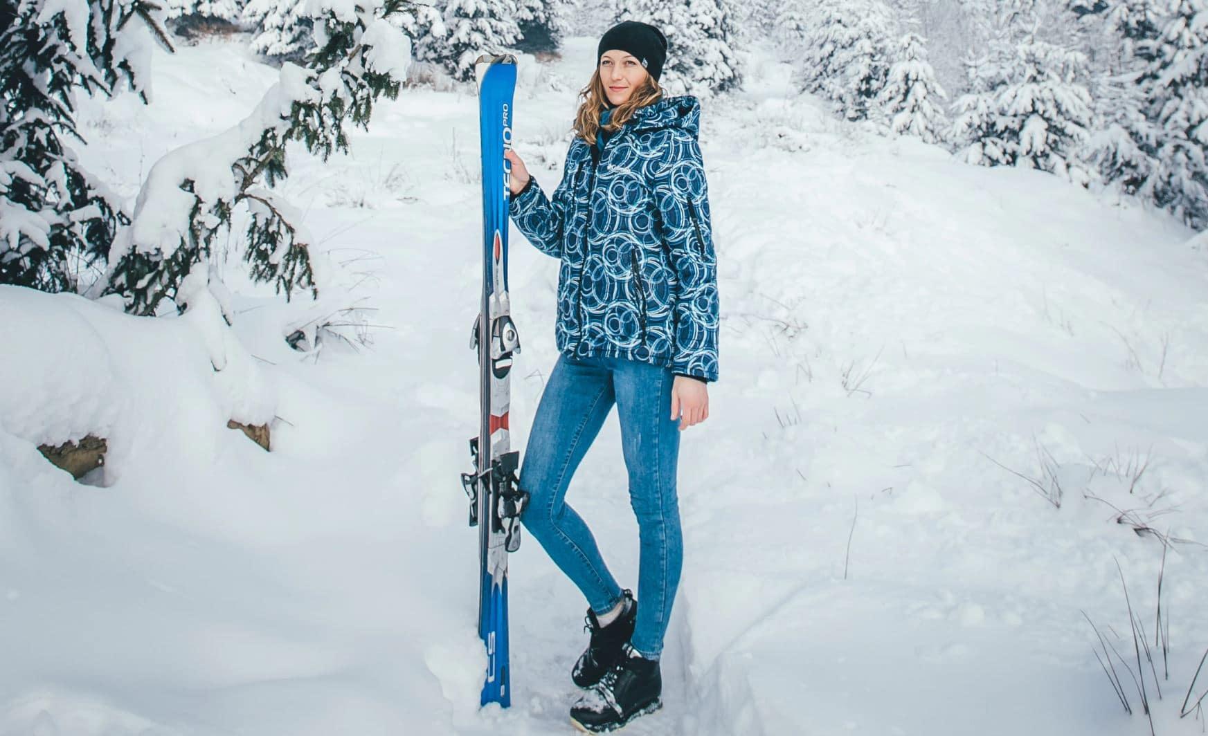 femme ski neige