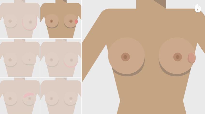 seins poitrine en bonne santé gestes et exercices dessin