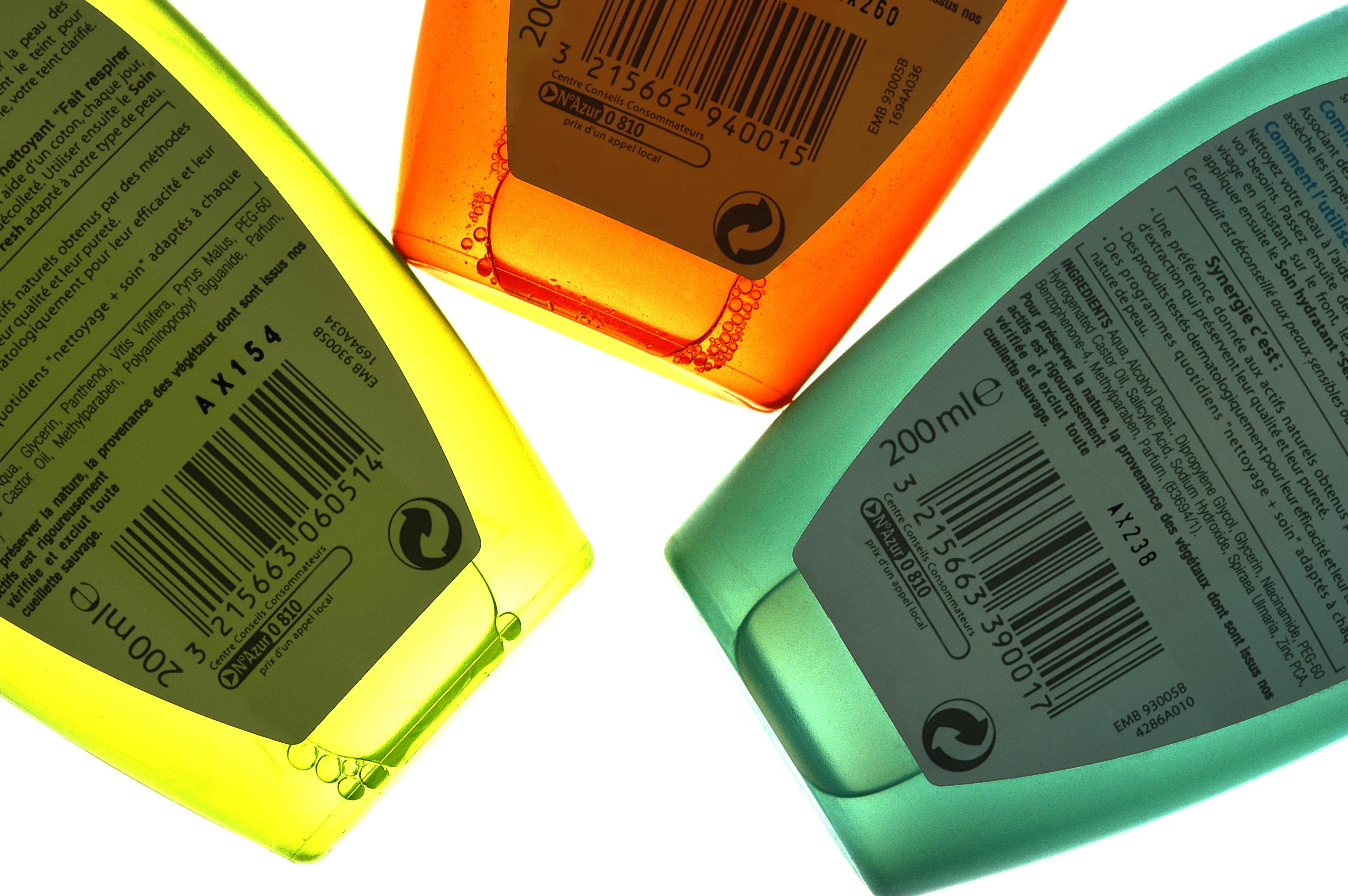 gel douche flacon plastique danger santé environnement
