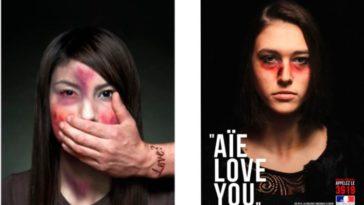 violences conjugales femmes photos choc campagne