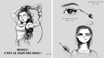 galères filles cheveux longs dessins humour C Cassandra