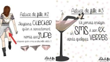 astuces de filles dessins illustrations