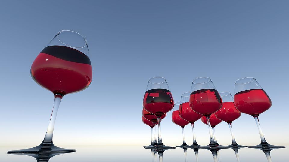 couleur des règles verres de vin sang
