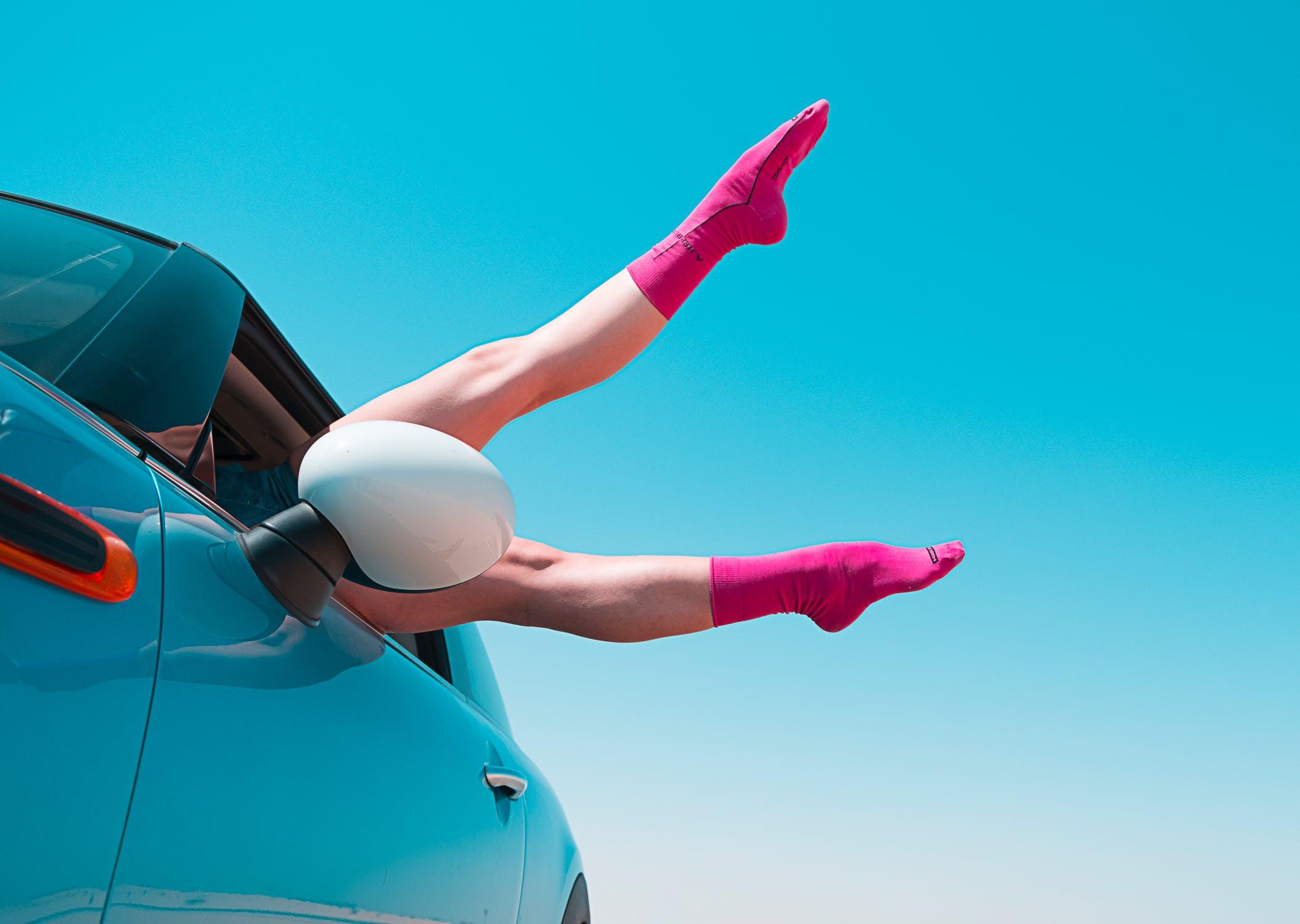 chaussettes faire l'amour dans une voiture