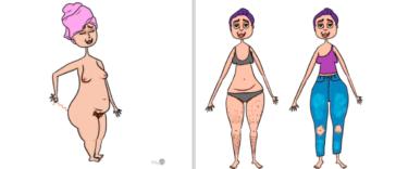 trucs de filles dessins humour