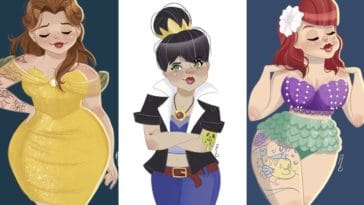 princesses Disney pinups dessins illustrations