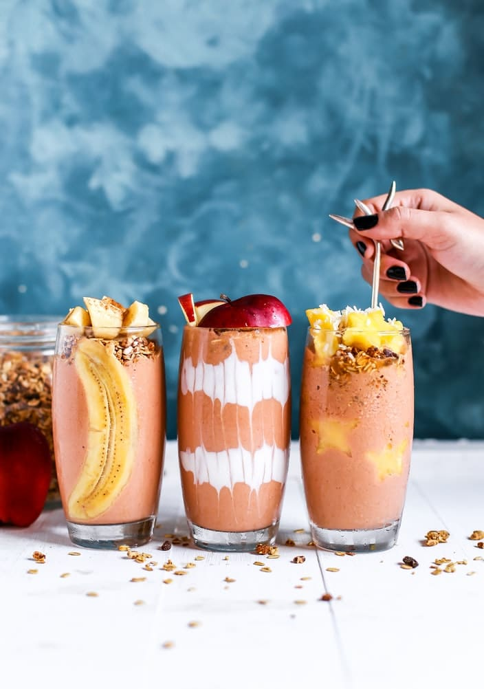 smoothies verres fruits jus recettes