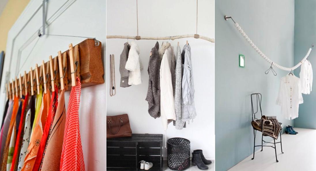 10 mani res originales de vous fabriquer un dressing unique et pas cher avec de vieux objets. Black Bedroom Furniture Sets. Home Design Ideas