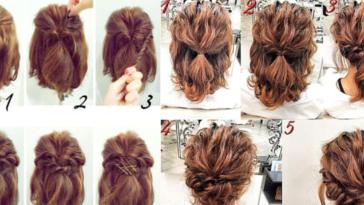 coiffures cheveux courts tuto
