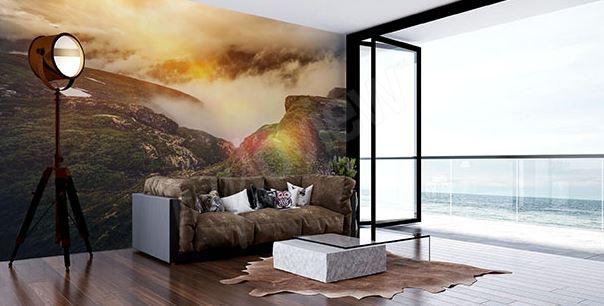 papier peint montagne salon pièce déco