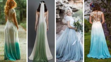robes mariées mariage robe de mariée colorée tie and dye mode