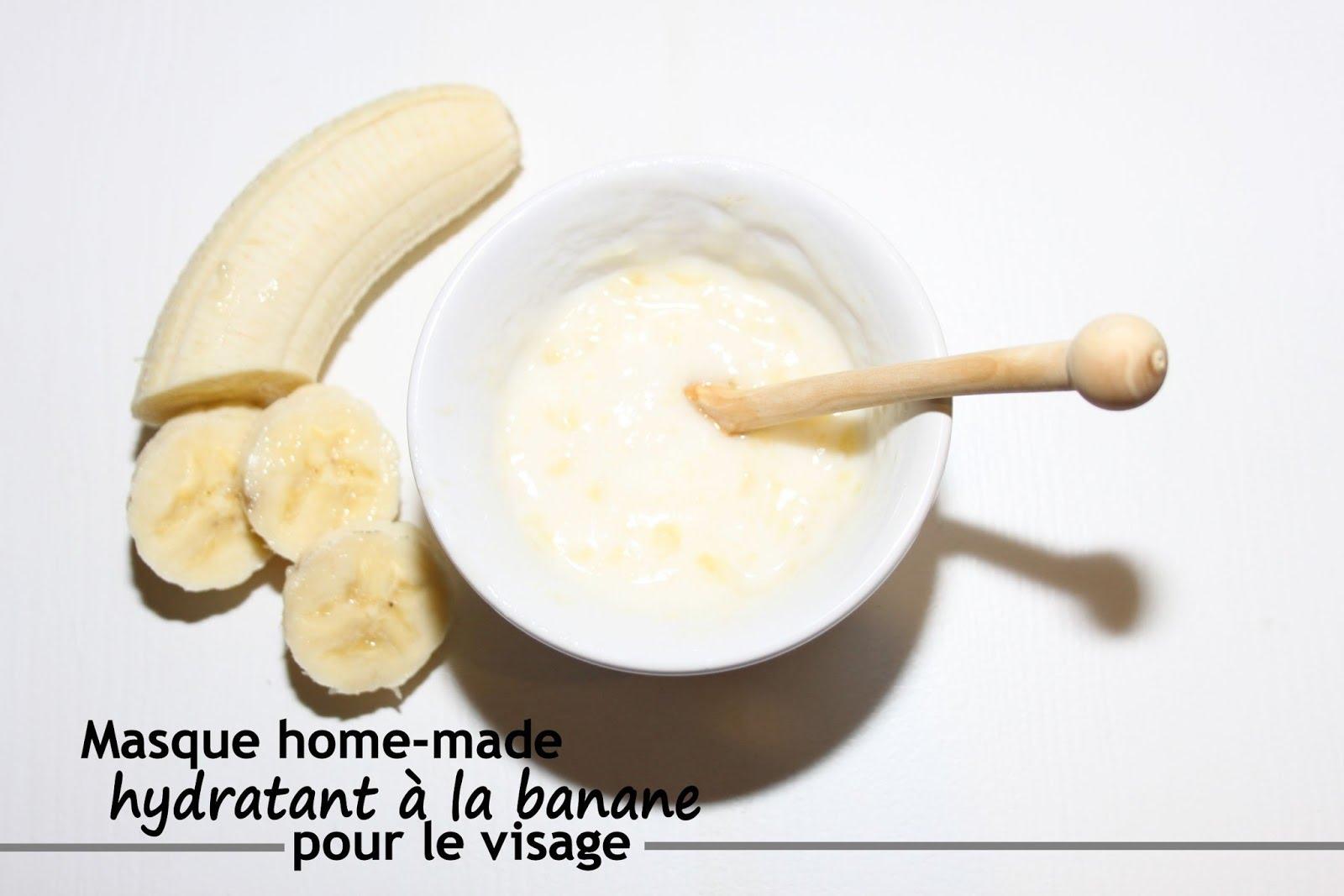 purée de banane produit de beauté diy