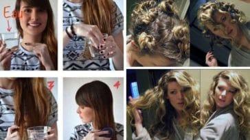 boucler onduler ses cheveux sans fer