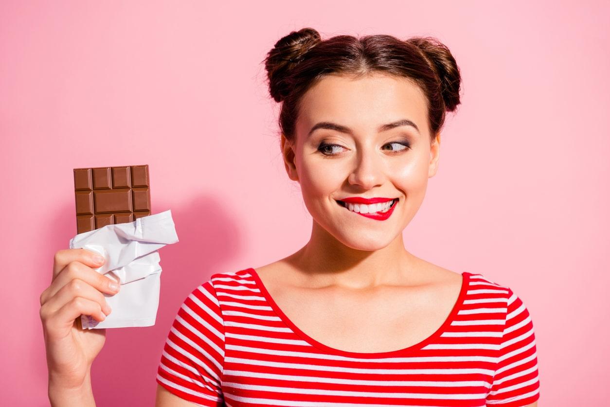 manger tablette de chocolat femme addiction