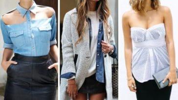 manières différentes de porter chemise mode