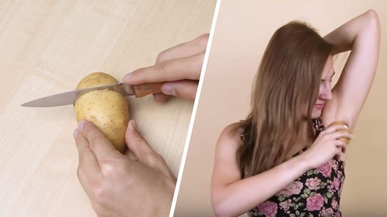 secrets de beauté insolites pomme de terre aisselles déo