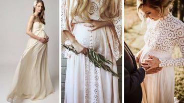 robes de mariée de grossesse femme enceinte