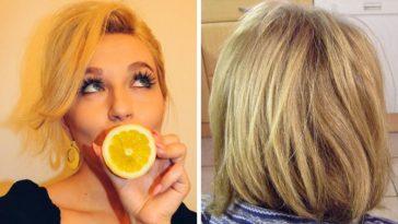 cheveux éclaircir blonde astuce naturelle citron