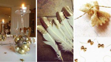 table de fête idées décorations réveillon