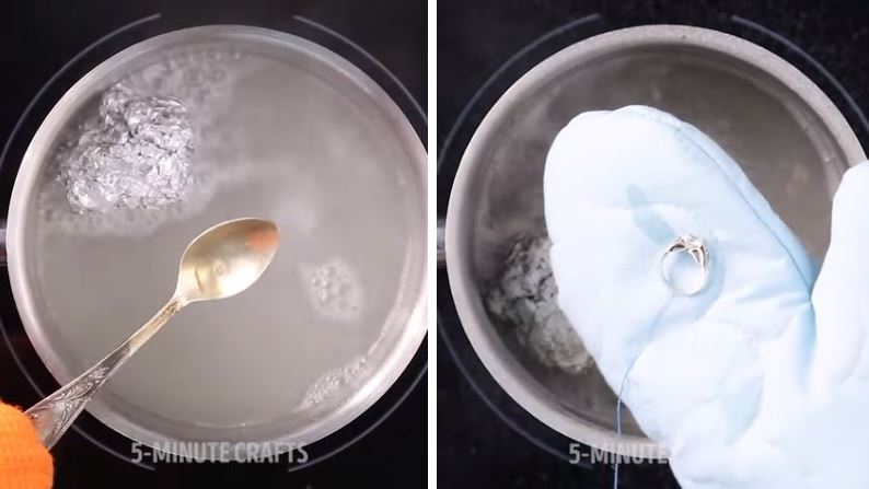 astuce nettoyer ses bagues en argent ou en toc