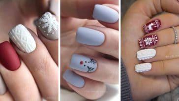 manucures de fête Noël ongles décoration nail art