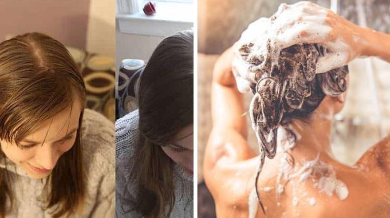 shampoing avant après no poo