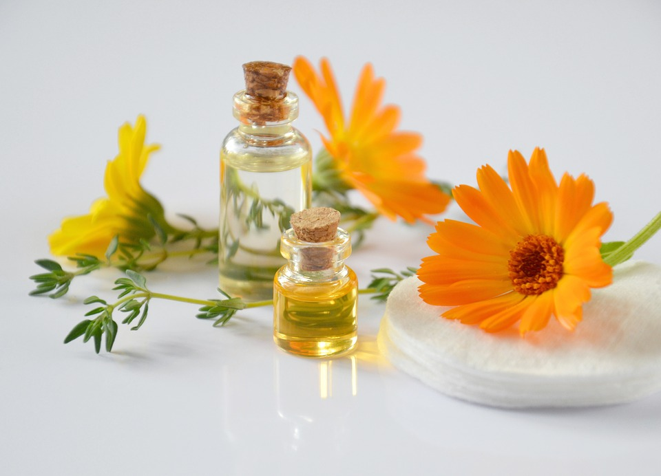 huile fleurs de calendula huiles essentielles flacon nature