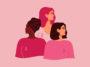 femmes octobre rose cancer du sein dessin
