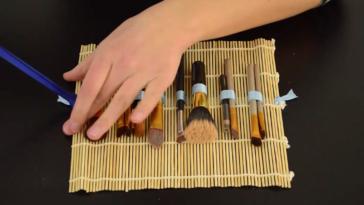 trousse maquillage DIY bambou