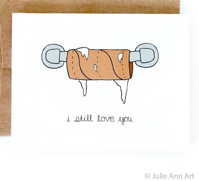 cartes de Saint-Valentin papier toilette WC humour