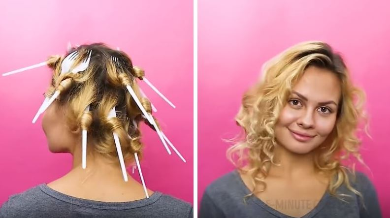 6 techniques insolites pour boucler vos cheveux en moins de 10 ... cd5e6823389